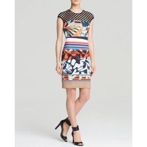 Clover Canyon NWT Ink Strokes Perforated Dress